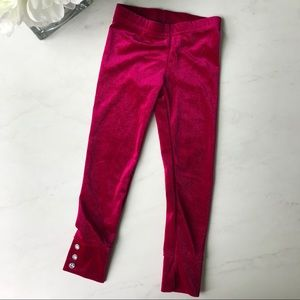4T velvet leggings